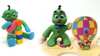 Can Green Baby Learns Fast!? In CARING-GREEN-BABIES COMPILATION Cartoons For Kids