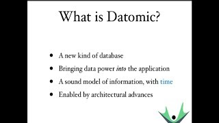 Intro to Datomic
