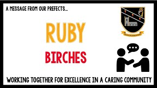 Message from our Year 10 pupils - Ruby