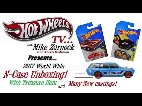 Unboxing Hot Wheels 2017 N Case with Treasure Hunt & Many New Castings!