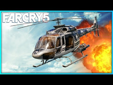 FAR CRY 5 HELICOPTER GAMEPLAY | Far Cry 5 Free Roam Gameplay