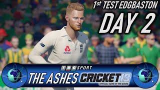 Cricket 19 The Ashes 1st Test Edgbaston Day 2 with Retro 90s BBC Presentation