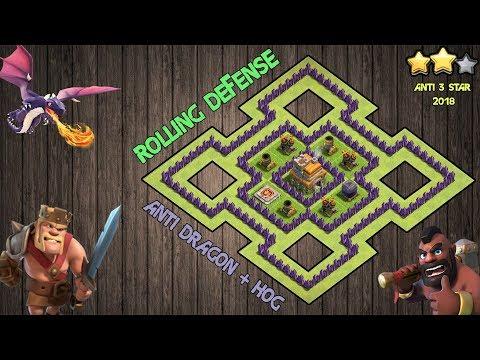 Clash Of Clans - TH7 WAR BASE!   C + Anti Hog + Anti 3 Star + Rolling Terror Strategy!