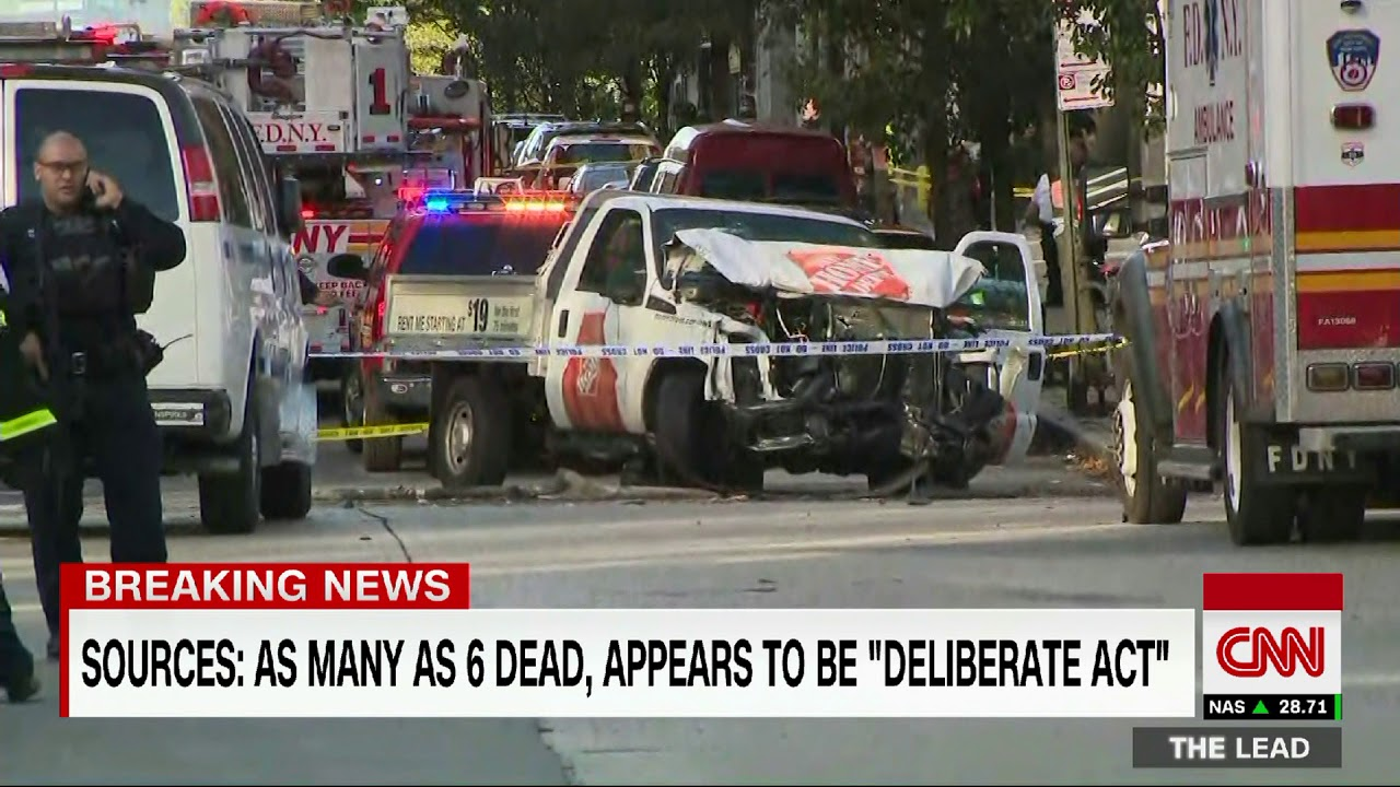 Fatalities reported after truck rams people in Manhattan