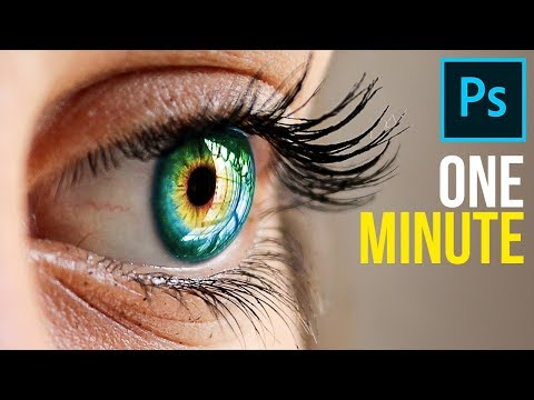1-Minute Photoshop - How to Create Multi-Color Eyes!