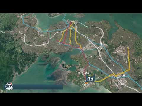 Light rail to airport and Mangere