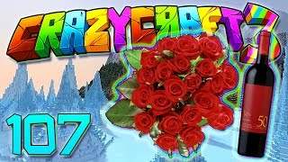Minecraft Crazy Craft 3.0: DECOCRAFT BENCH HYPE! WINE AND FLOWERS MOD! #107 (Modded Roleplay)