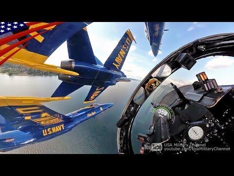 [Awesome Cockpit Video] US Navy Blue Angels Aerobatics - F/A-18 Hornet