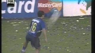 Boca 2 Santos 0 Copa Libertadores 2003 (Resumen Completo)