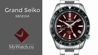 Grand Seiko SBGE245G Spring Drive GMT | блиц обзор