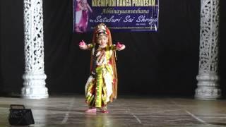 Bhama Kalapam, Kuchipudi Rangapravesam, Satuluri Sai Shriya