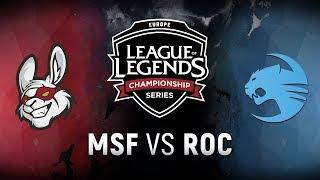 Video MSF vs. ROC - Week 9 Day 1 | EU LCS Spring Split |  Misfits Gaming vs. Team Roccat (2018) download MP3, 3GP, MP4, WEBM, AVI, FLV Agustus 2018