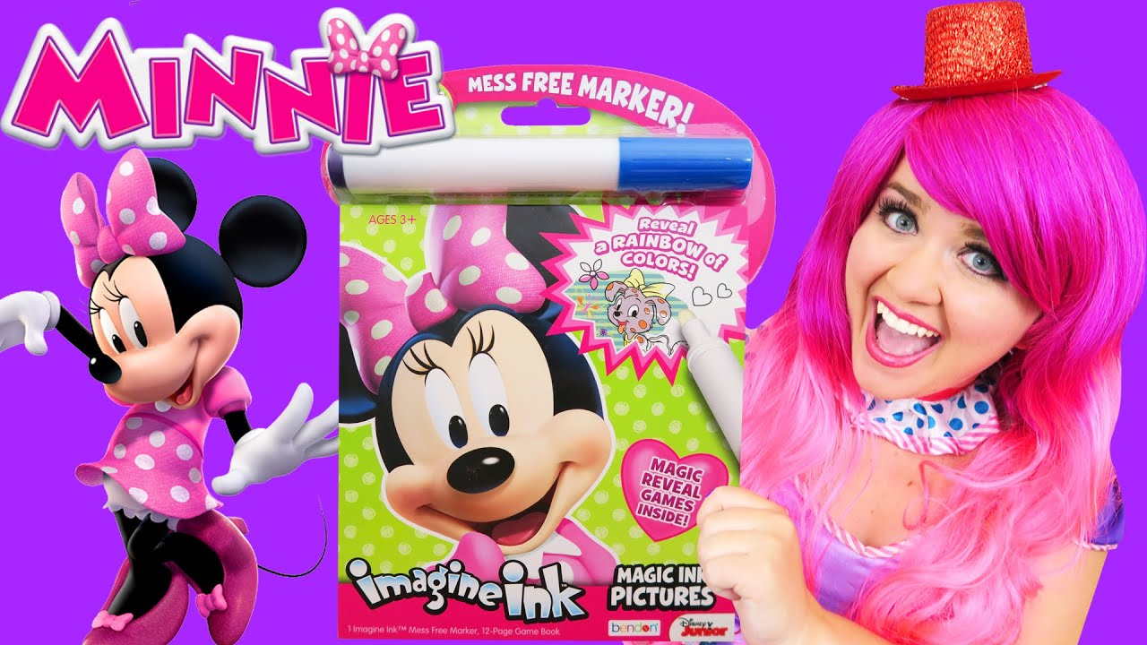 Coloring Minnie Magic Reveal Ink Coloring Book | Imagine Ink Marker