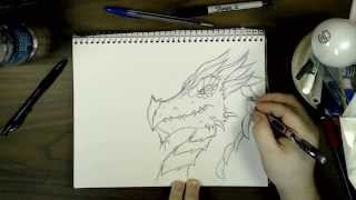 How to Draw a Dragon Head (Fantasy) | SS