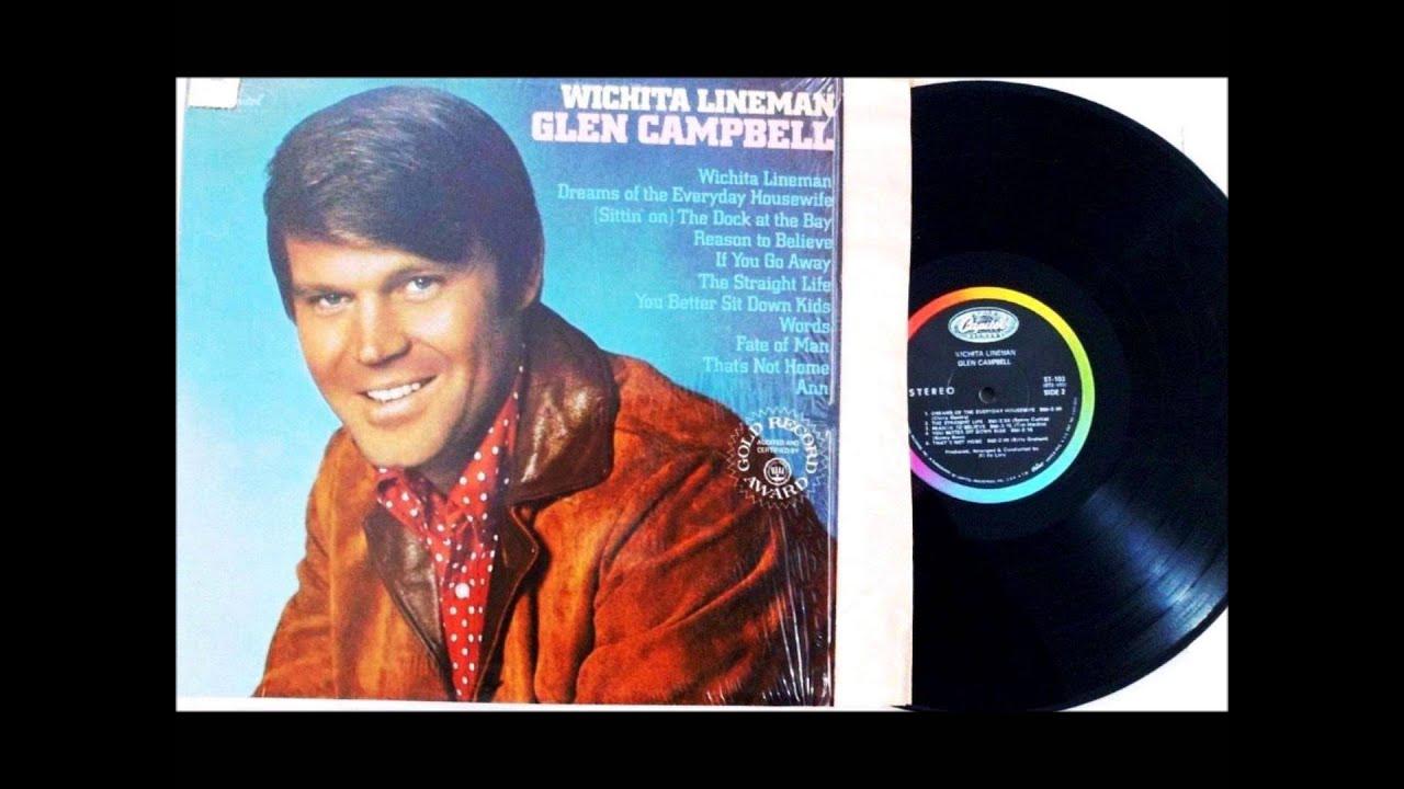 Witchita Lineman Glen Campbell 1968 Vinyl Lp Youtube