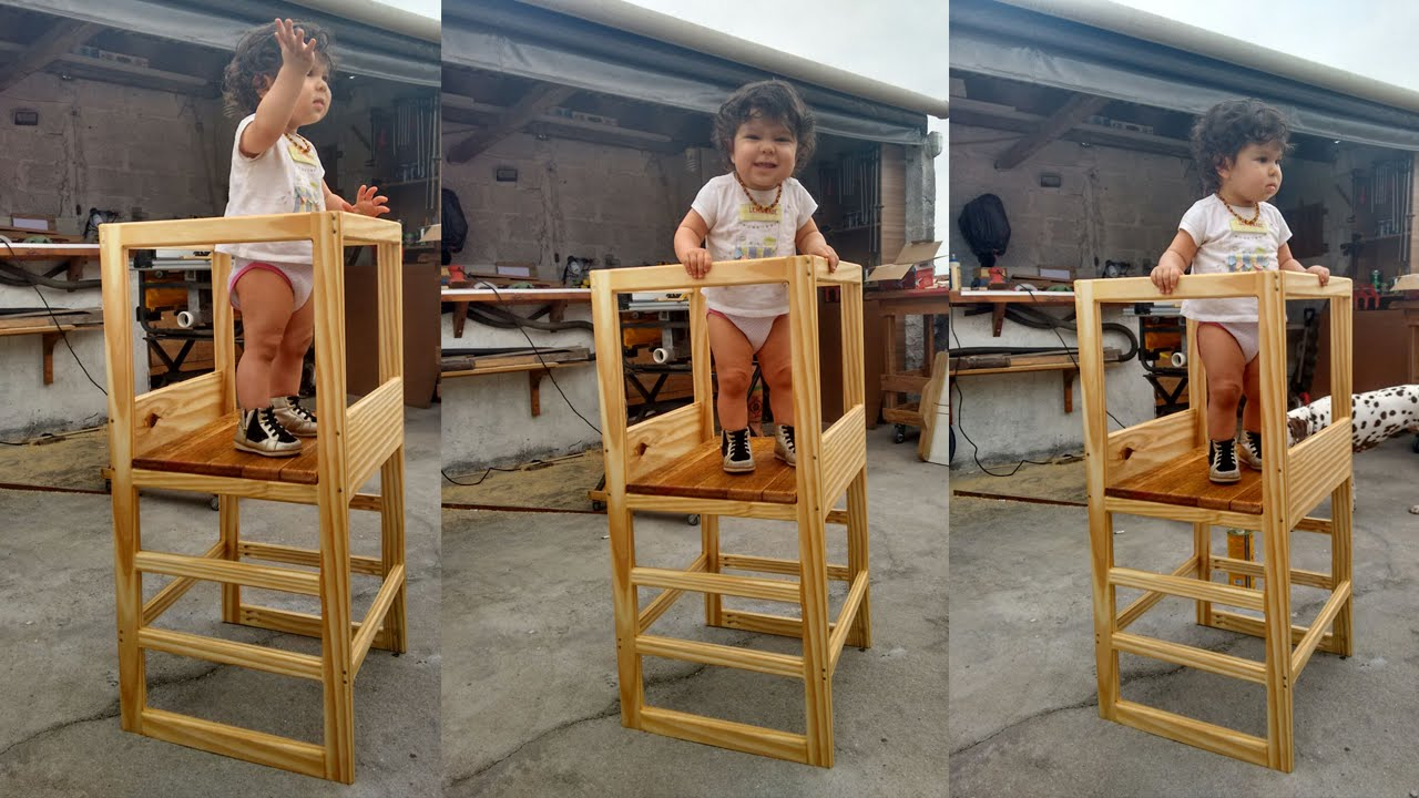 Torre De Aprendizagem Kitchen Helper Stool Youtube
