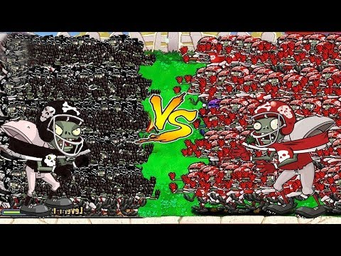 99999 Football Zombie vs 99999 Giga-Football Plants vs Zombies