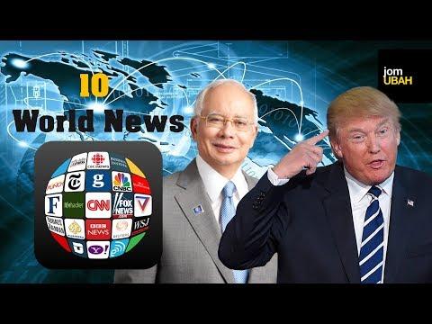 10 BERITA DUNIA - Najib Razak visit Trump - Famous (OMG)