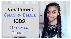 Non Phone Jobs: Get Paid To Chat & Email Online (Introvert Friendly Jobs)
