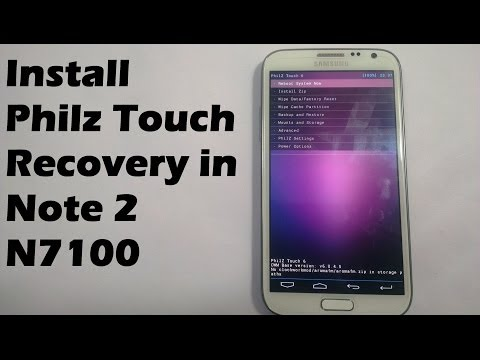 How to Install Philz Touch Recovery on Samsung Galaxy Note 2 N7100