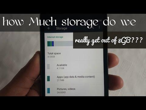 Moto G 3rd Gen Default Storage 8GB How Much Do We Get????