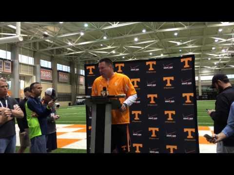 Butch Jones discusses the development of Evan Berry