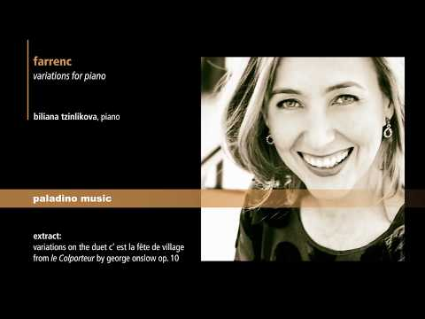 Biliana Tzinlikova: Farrenc — Variations for piano (pmr 0088) PREVIEW