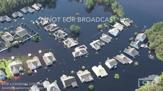 9-26-2018 Conway, SC Helicopter Video of hundreds of flooded homes Waccamaw River record crest