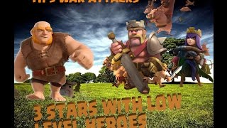Clash of Clans -Th9 3 star attack strategy with low level heroes #5
