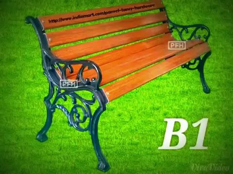 Cast Iron Garden Benches With FRP Slats