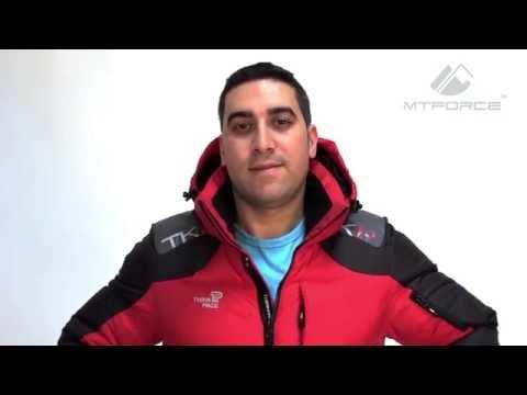 Куртка пуховик мужская красного цвета 9636