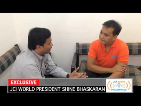 JCI Radio Philippines: Interview with 2014 JCI World President Shine Bhaskaran