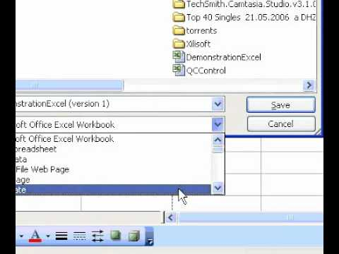 Microsoft Office Excel 2003 Create a workbook template - YouTube