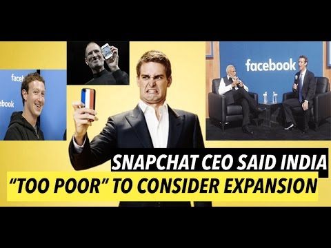 Reply from Facebook and Apple to Snapchat CEO   INDIA is Not Poor