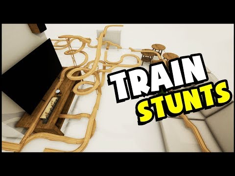 STUNT TRAIN, HUGE JUMPS & CRASHES! Toy Train Sim - Thomas Just Went Airborne! (Tracks Gameplay)