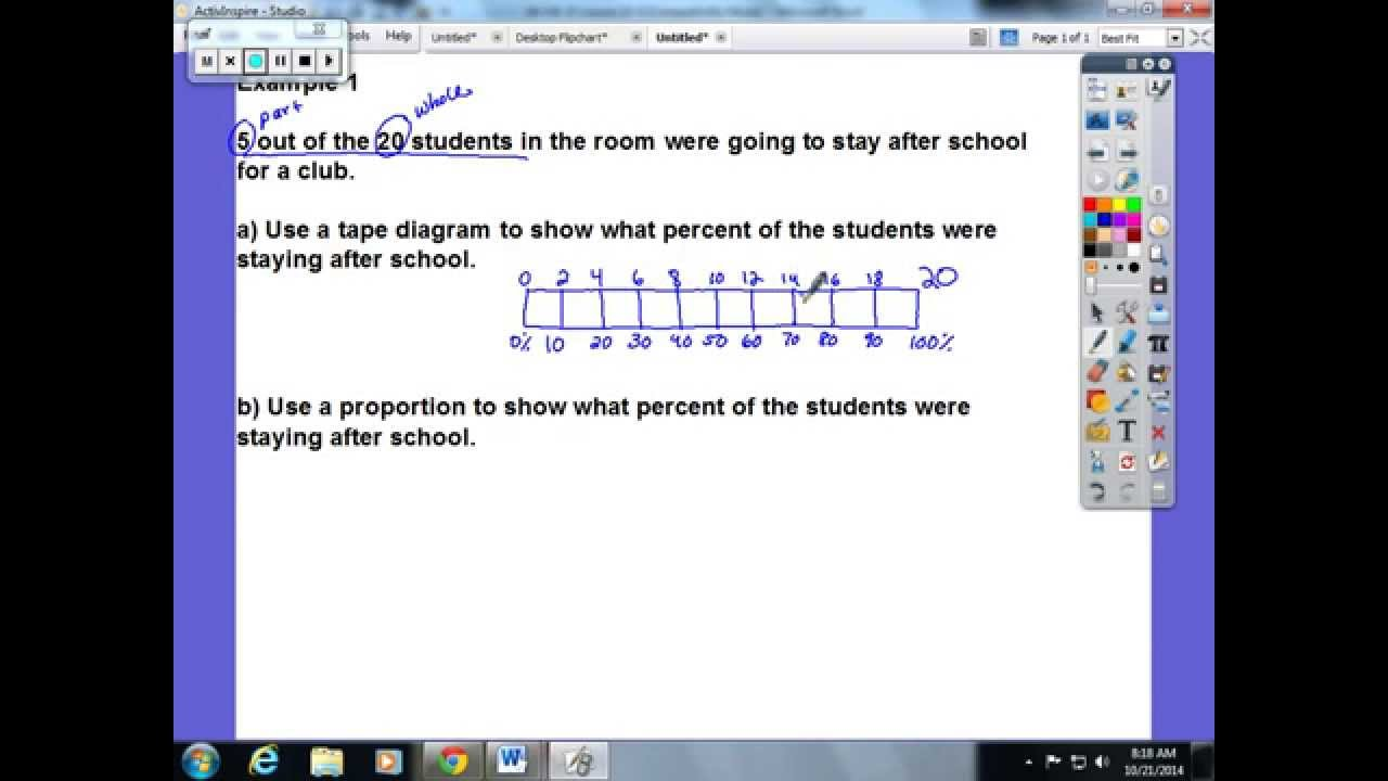 fractions as percents solutions examples homework worksheets videos lesson plans  [ 1280 x 720 Pixel ]