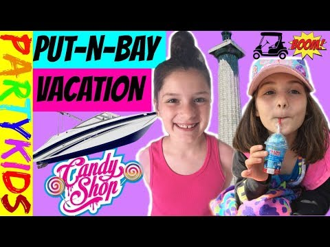 PUT-IN-BAY VACATION! GOLF CART EXPLOSION+PLAYGROUND+CANDY STORE+MAZE (FAMILY VLOG)