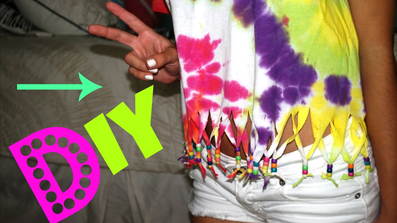 a47b84037328 DIY Tie Dye Fringes Shirt! (Contest Winner Included) - YouTube