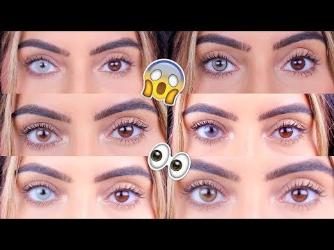 BEST COLOURED CONTACTS FOR DARK EYES!