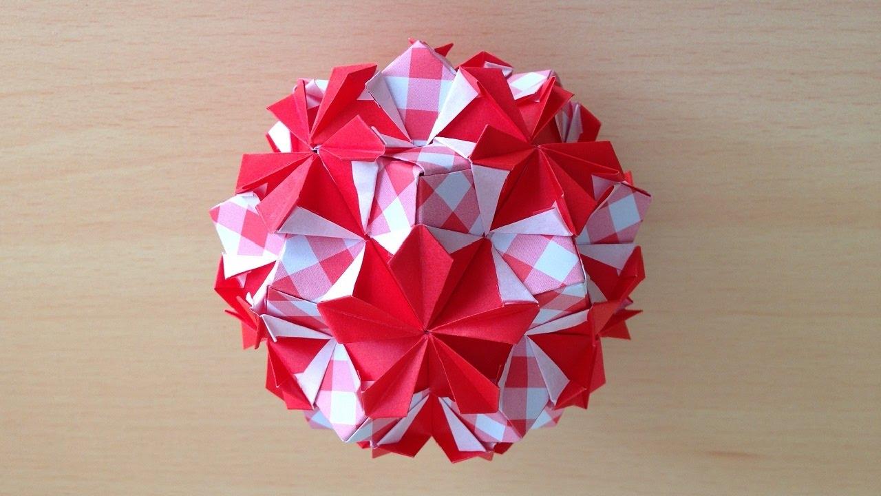 折り紙 の くす玉 花 ニチニチソウ 折り方 Niceno1 Origami Kusudama