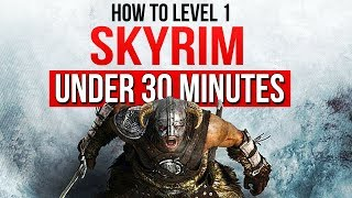 Beating Skyrim's Main Quest UNDER 30 Minutes at Level 1 – ESO Reacts!
