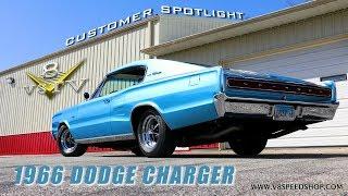 1966 Dodge Charger Customer Spotlight Video V8 Speed and Resto Shop V8TV