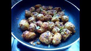 Mummy's Cooking - Seppankizhangu varuval / Colocasia Fry in Tamil