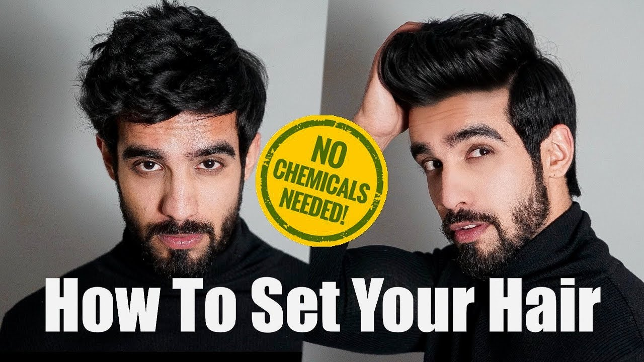How To Set Hair At Home L Least Damage L Hindi Hair Tutorial Men India 2018 Youtube
