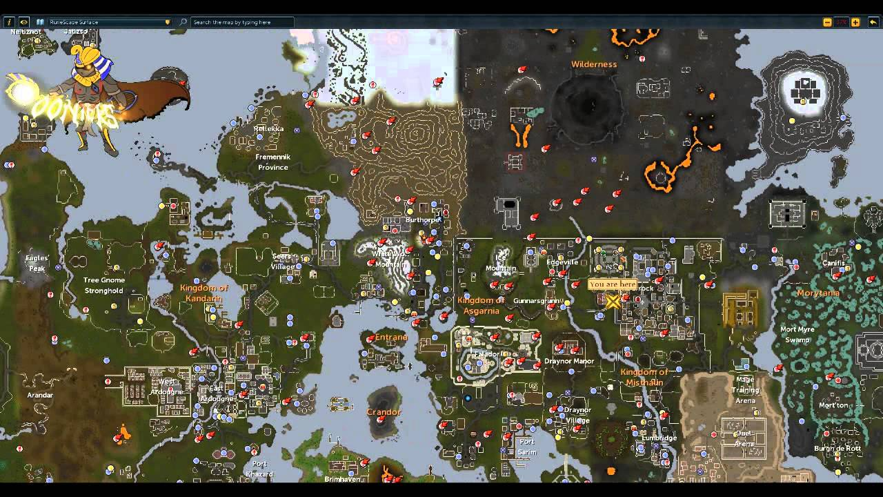 Runescape Coinshare World map and Tutorial NL snelle hulp + ...