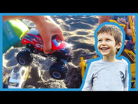 Toy Monster Trucks Ramp at the Beach