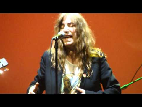 Patti Smith live @ the Burgtheater, Vienna 30th of may 2011 - Because the Night