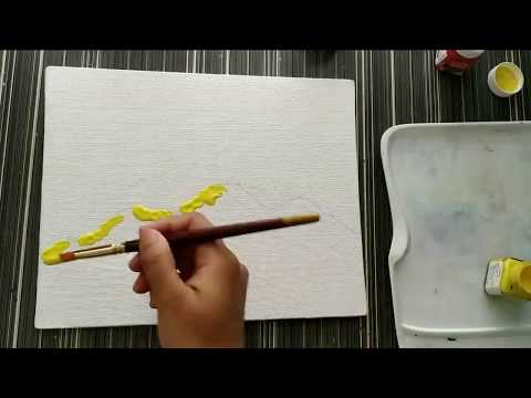 Very Easy Abstract Painting Tutorial For Beginners 5 Minutes Myhobbyclass Com