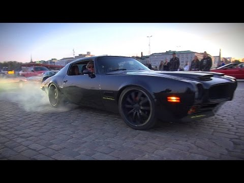 MEAN LOOKING PONTIAC FIREBIRD 455 BURNOUT AND EPIC SOUNDS!