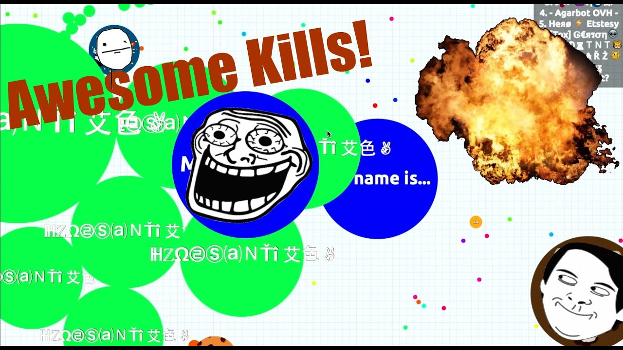Agario best kills solo and team and bloopers